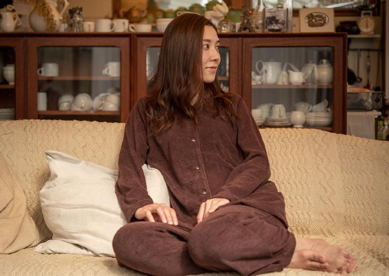 長袖・中厚のレディースパジャマ
