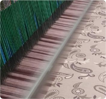 タオル織機で織る